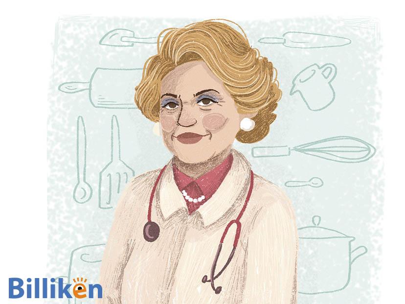 ilustración del rostro de Rosa María Britton