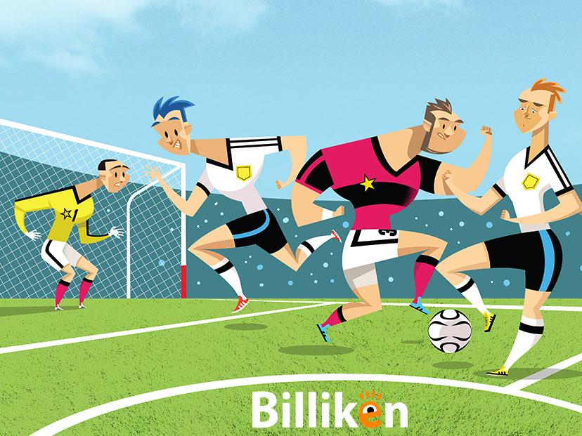 ilustración jugadores futbol partido deportes juegos olímpicos pelota